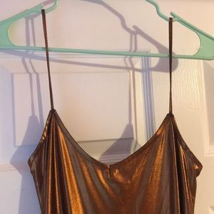 Nasty Gal Dresses - Copper spaghetti strap dress